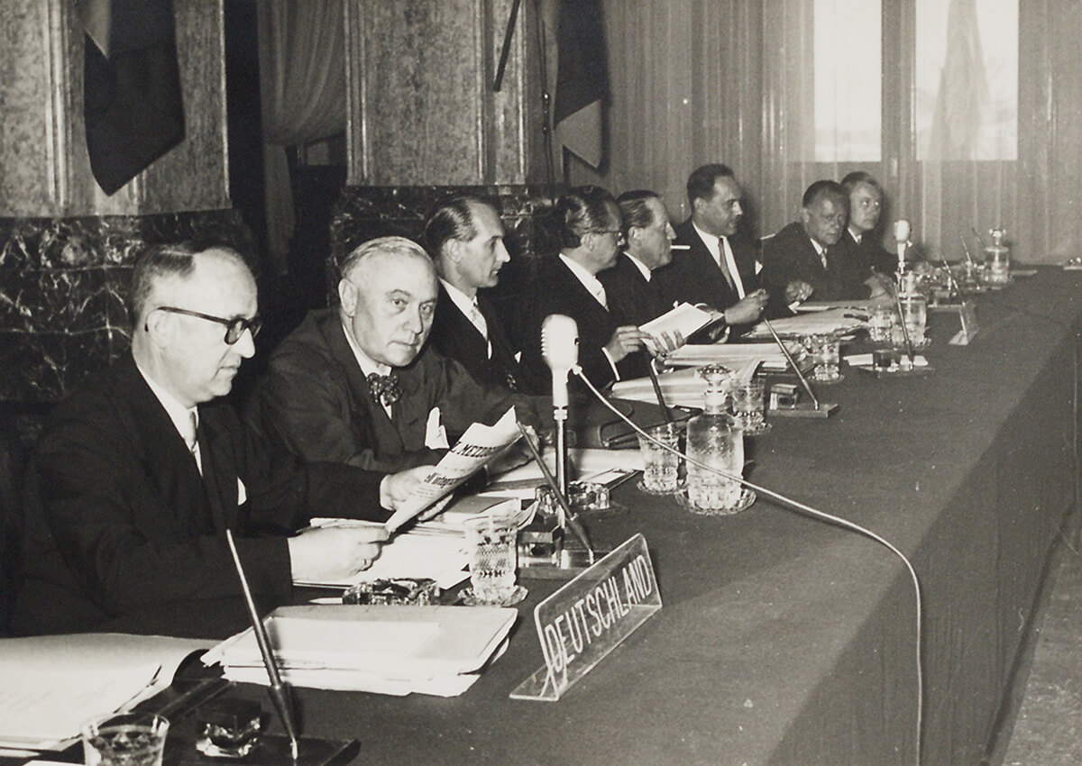 Walter Hallstein at the Messina Conference